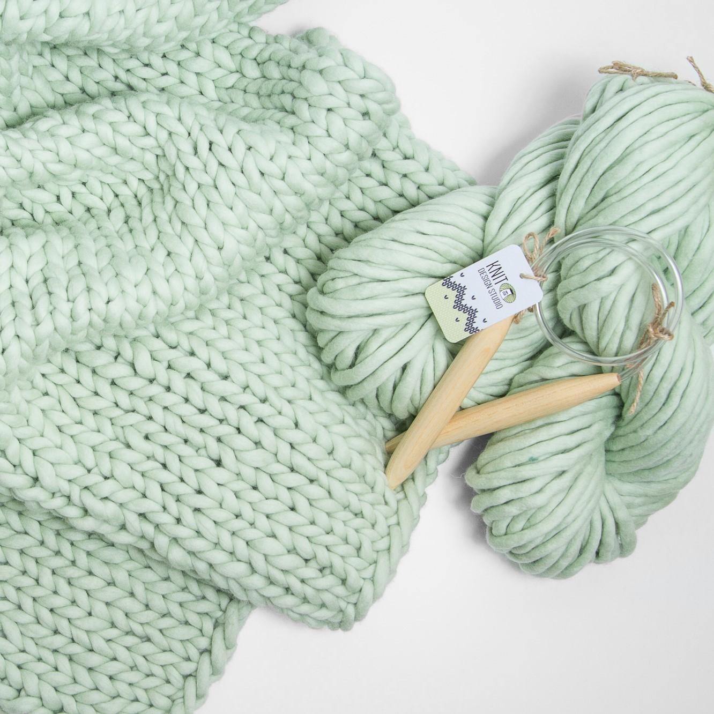 Simply Blanket Knitting Kit Knit Design Studio Super Chunky
